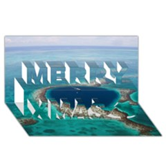 Great Blue Hole 1 Merry Xmas 3d Greeting Card (8x4)