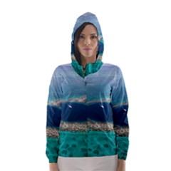 GREAT BLUE HOLE 1 Hooded Wind Breaker (Women)