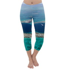 Great Blue Hole 1 Capri Winter Leggings