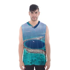 GREAT BLUE HOLE 1 Men s Basketball Tank Top