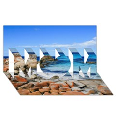 BAY OF FIRES MOM 3D Greeting Card (8x4)