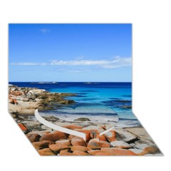 Bay Of Fires Heart Bottom 3d Greeting Card (7x5)