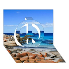 Bay Of Fires Peace Sign 3d Greeting Card (7x5)