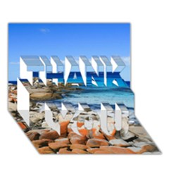 Bay Of Fires Thank You 3d Greeting Card (7x5)