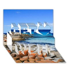 BAY OF FIRES Get Well 3D Greeting Card (7x5)