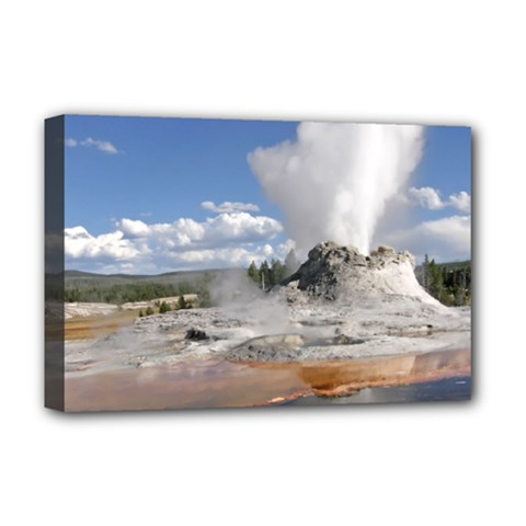 YELLOWSTONE CASTLE Deluxe Canvas 18  x 12