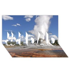 YELLOWSTONE CASTLE #1 DAD 3D Greeting Card (8x4)
