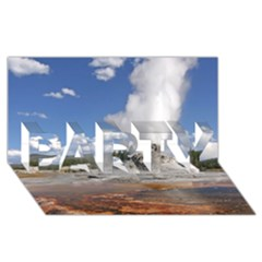 Yellowstone Castle Party 3d Greeting Card (8x4)