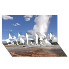 YELLOWSTONE CASTLE SORRY 3D Greeting Card (8x4)