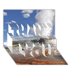 YELLOWSTONE CASTLE THANK YOU 3D Greeting Card (7x5)