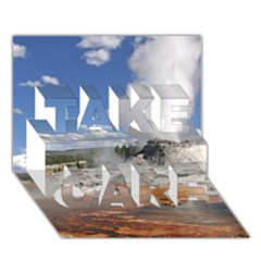 Yellowstone Castle Take Care 3d Greeting Card (7x5)