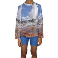 YELLOWSTONE CASTLE Kid s Long Sleeve Swimwear