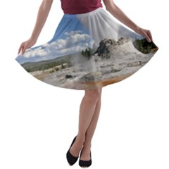 Yellowstone Castle A Line Skater Skirt