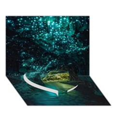WAITOMO GLOWWORM Heart Bottom 3D Greeting Card (7x5)