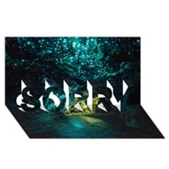 Waitomo Glowworm Sorry 3d Greeting Card (8x4)