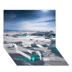 TURQUOISE ICE LOVE Bottom 3D Greeting Card (7x5)