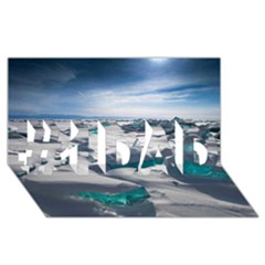 Turquoise Ice #1 Dad 3d Greeting Card (8x4)