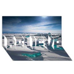 TURQUOISE ICE BELIEVE 3D Greeting Card (8x4)