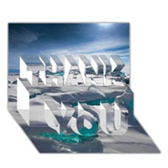 TURQUOISE ICE THANK YOU 3D Greeting Card (7x5)