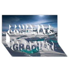 TURQUOISE ICE Congrats Graduate 3D Greeting Card (8x4)