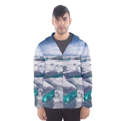TURQUOISE ICE Hooded Wind Breaker (Men)