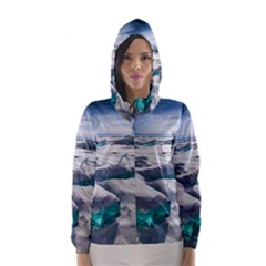 TURQUOISE ICE Hooded Wind Breaker (Women)