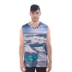 Turquoise Ice Men s Basketball Tank Top