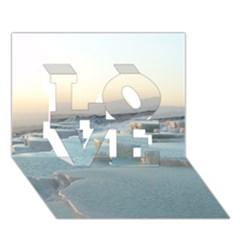 TRAVERTINE POOLS LOVE 3D Greeting Card (7x5)