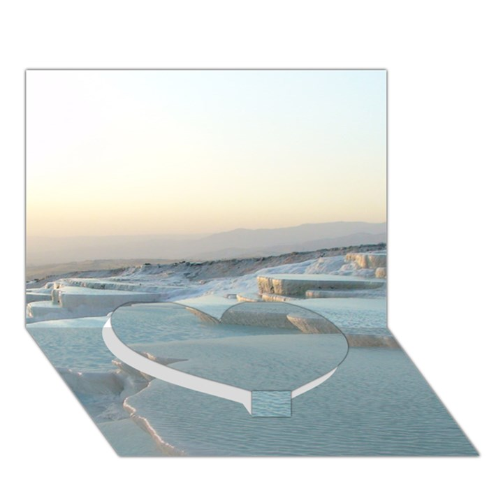 TRAVERTINE POOLS Heart Bottom 3D Greeting Card (7x5)