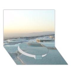 Travertine Pools Circle Bottom 3d Greeting Card (7x5)