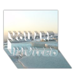 Travertine Pools You Are Invited 3d Greeting Card (7x5)