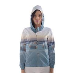 TRAVERTINE POOLS Hooded Wind Breaker (Women)