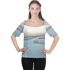 TRAVERTINE POOLS Women s Cutout Shoulder Tee