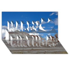 PETRIFIED FORREST TEPEES Happy Birthday 3D Greeting Card (8x4)
