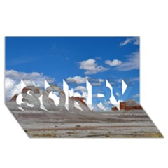 PETRIFIED FORREST TEPEES SORRY 3D Greeting Card (8x4)