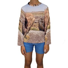 PETRIFIED DESERT Kid s Long Sleeve Swimwear