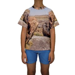 PETRIFIED DESERT Kid s Short Sleeve Swimwear