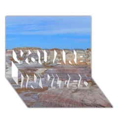 PAINTED DESERT YOU ARE INVITED 3D Greeting Card (7x5)