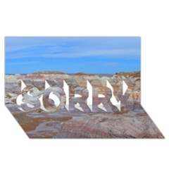 PAINTED DESERT SORRY 3D Greeting Card (8x4)