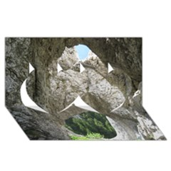 Limestone Formations Twin Hearts 3d Greeting Card (8x4)