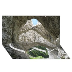 LIMESTONE FORMATIONS Twin Heart Bottom 3D Greeting Card (8x4)