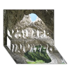 Limestone Formations You Are Invited 3d Greeting Card (7x5)
