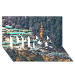 Huanglong Pools Hugs 3d Greeting Card (8x4)