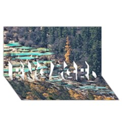 HUANGLONG POOLS ENGAGED 3D Greeting Card (8x4)
