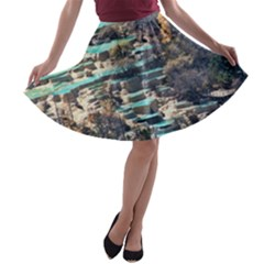 HUANGLONG POOLS A-line Skater Skirt