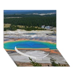 Grand Prismatic Heart Bottom 3d Greeting Card (7x5)