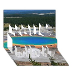 GRAND PRISMATIC You Did It 3D Greeting Card (7x5)