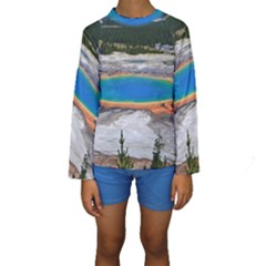 GRAND PRISMATIC Kid s Long Sleeve Swimwear