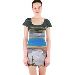 GRAND PRISMATIC Short Sleeve Bodycon Dresses