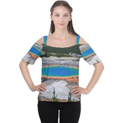 GRAND PRISMATIC Women s Cutout Shoulder Tee